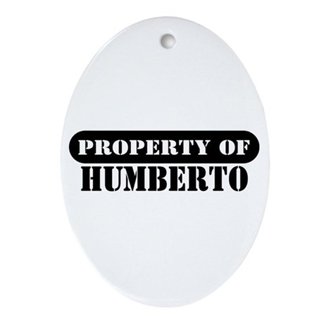 Property of Humberto Oval Ornament