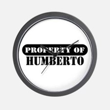 Property of Humberto Wall Clock