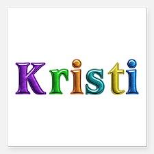 Kristi Shiny Colors Square Car Magnet