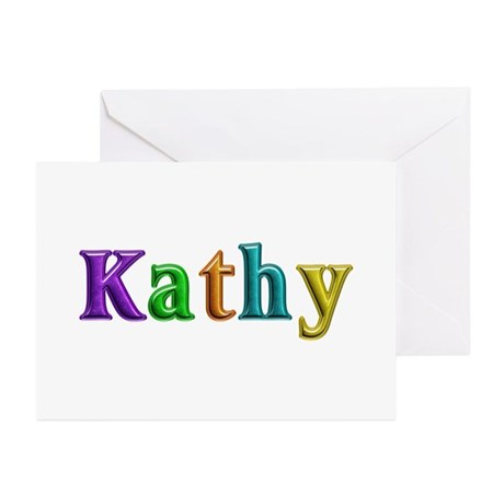 Kathy Shiny Colors Greeting Card 10 Pack