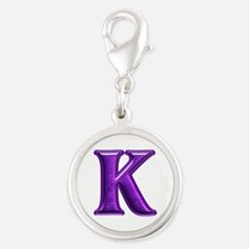 K Shiny Colors Silver Round Charm