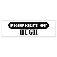 Property of Hugh Bumper Car Sticker