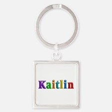 Kaitlin Shiny Colors Square Keychain