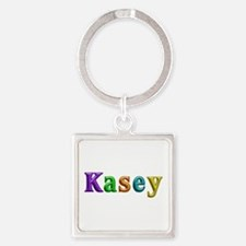 Kasey Shiny Colors Square Keychain