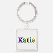 Katie Shiny Colors Square Keychain
