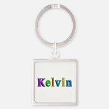 Kelvin Shiny Colors Square Keychain