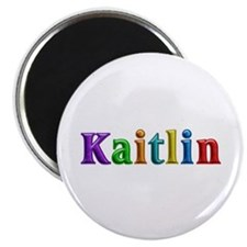 Kaitlin Shiny Colors Round Magnet