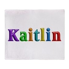 Kaitlin Shiny Colors Throw Blanket