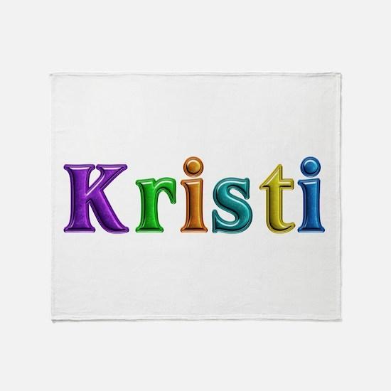 Kristi Shiny Colors Throw Blanket