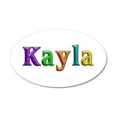 Kayla Shiny Colors Wall Decal