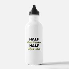 Half Radio Producer Half Rock Star Water Bottle