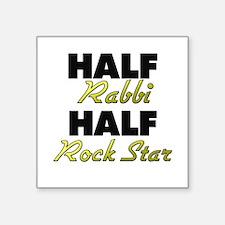 Half Rabbi Half Rock Star Sticker