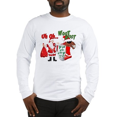 Uh Oh Hump Day Christmas Long Sleeve T-Shirt