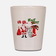 Uh Oh Hump Day Christmas Shot Glass