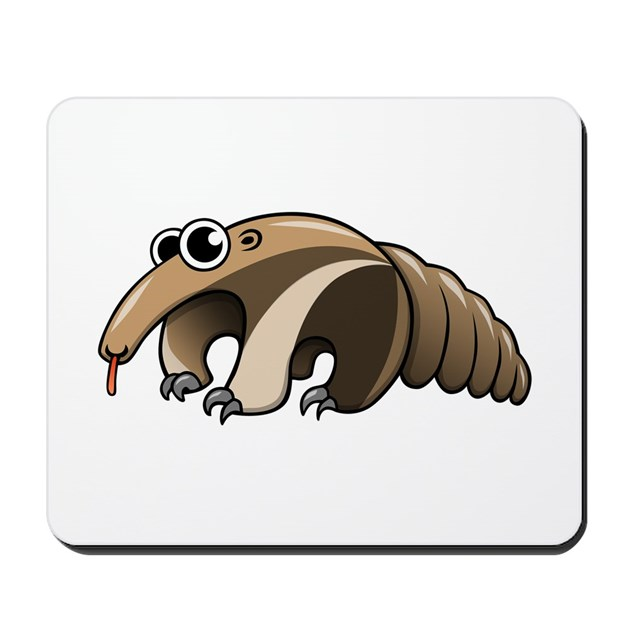 Cartoon Anteater Mousepad by CartoonAnimalsCo