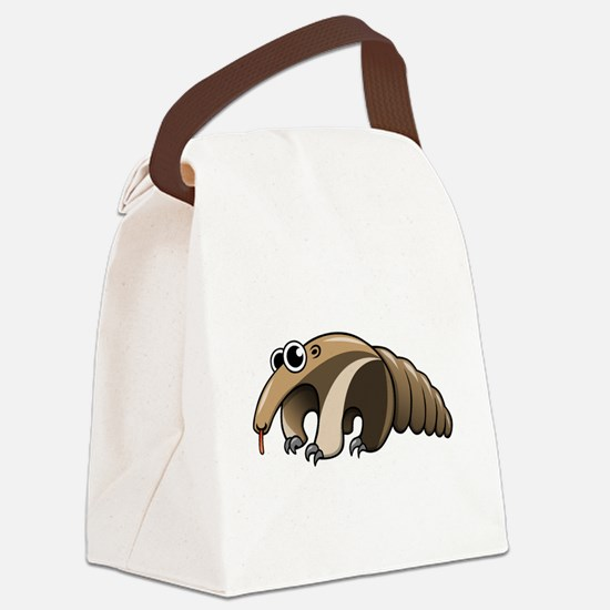 Cartoon Anteater Canvas Lunch Bag
