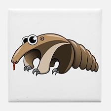Cartoon Anteater Tile Coaster