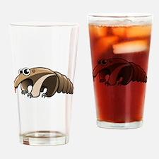 Cartoon Anteater Drinking Glass