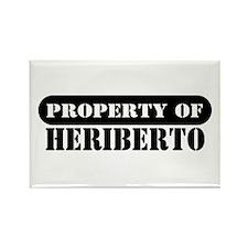 Property of Heriberto Rectangle Magnet