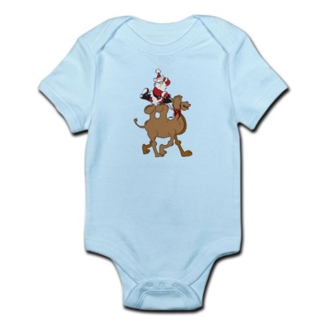 Santa on Hump Day Christmas Camel Infant Bodysuit