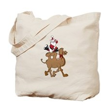 Santa on Hump Day Christmas Camel Tote Bag
