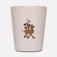 Santa on Hump Day Christmas Camel Shot Glass