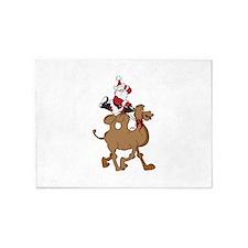 Santa on Hump Day Christmas Camel 5'x7'Area Rug