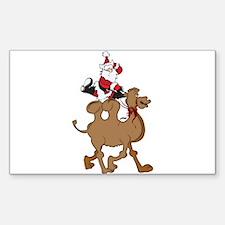 Santa on Hump Day Christmas Camel Decal