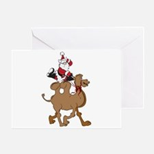 Santa on Hump Day Christmas Camel Greeting Card