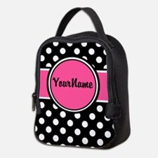 Pink Dot Personalized Neoprene Lunch Bag