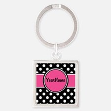 Pink Dot Personalized Keychains