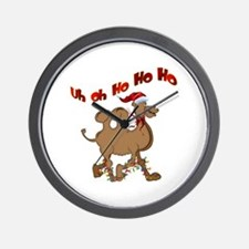 Ho Ho Ho Christmas Hump Day Wall Clock