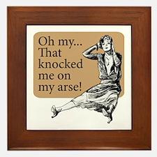 My Arse! - Framed Tile