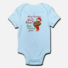 Merry Christmas Woot Woot Camel Infant Bodysuit