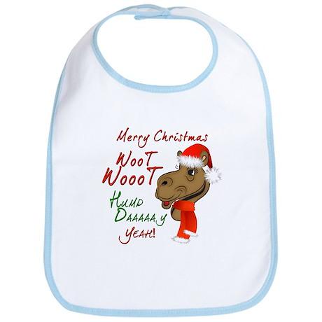 Merry Christmas Woot Woot Camel Bib