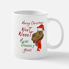 Merry Christmas Woot Woot Camel Mug
