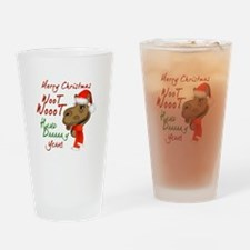 Merry Christmas Woot Woot Camel Drinking Glass