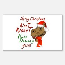 Merry Christmas Woot Woot Camel Decal
