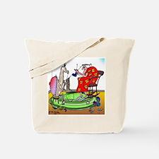 Llama Knitting Tote Bag