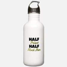 Half Priest Half Rock Star Water Bottle
