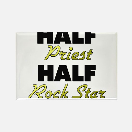 Half Priest Half Rock Star Magnets