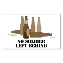 Fallen Soldier/Beer Drinker's Sticker (Rectangular