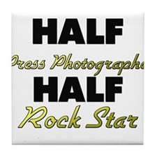 Half Press Photographer Half Rock Star Tile Coaste