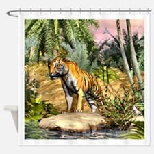 Funny Tiger peace Shower Curtain