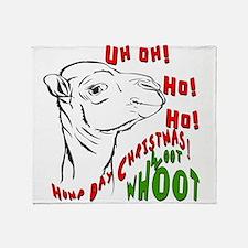 Hump Day Christmas Uh Ho Ho Throw Blanket