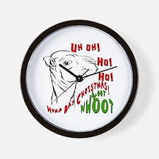 Hump Day Christmas Uh Ho Ho Wall Clock