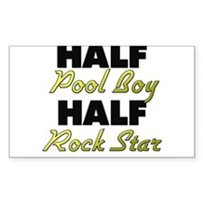 Half Pool Boy Half Rock Star Decal