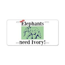 Ivory Aluminum License Plate