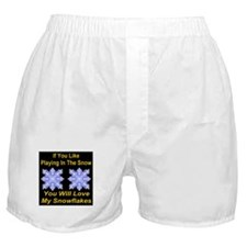 Playing In The Snow Boxer Shorts