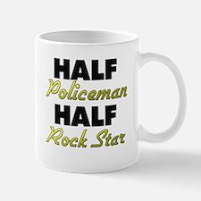 Half Policeman Half Rock Star Mugs